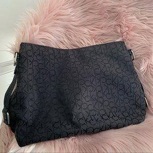 CALVIN KLEIN | Black CK printed purse